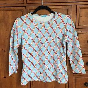 J.McLaughlin Bamboo 3/4 Sleeve Signature Shirt S